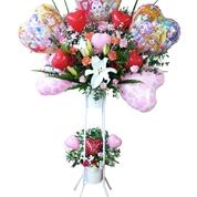フラワーバルーンスタンド 1段¥12,000〜 2段¥15,000〜